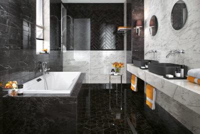 Marmor sildeben sort & hvid 8×31,5