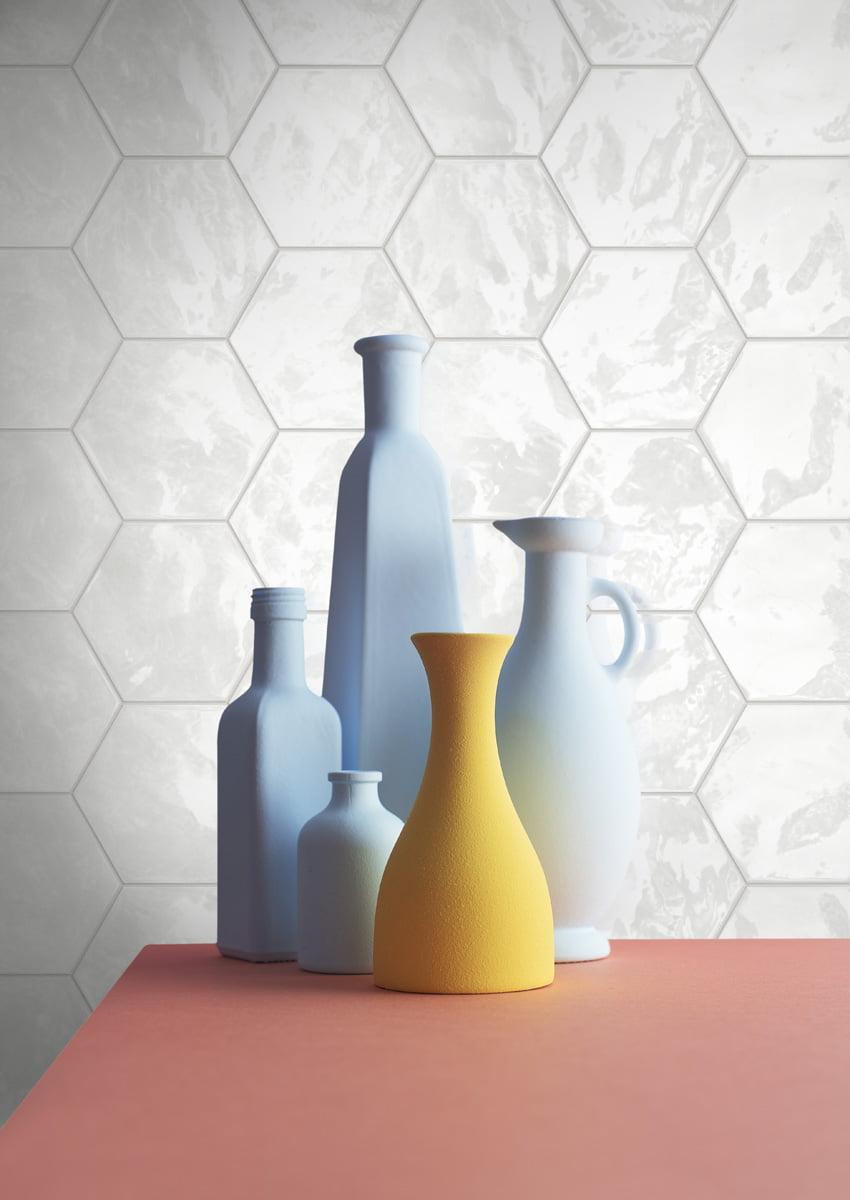Hexagon hvid