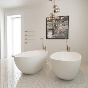 Sildeben og badekar