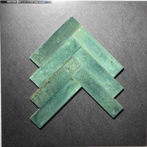 Ægte sildebensfliser i klassisk grøn
